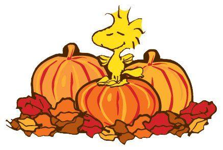 Woodstock Thanksgiving Clip Art.