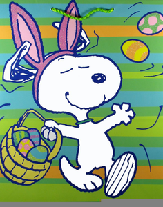 Free Snoopy Easter Clipart.