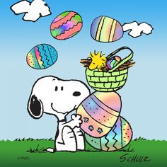 Easter snoopy. Clipart free cliparts download