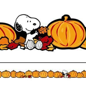 Snoopy and pumpkins are a perfect way to add that finishing.