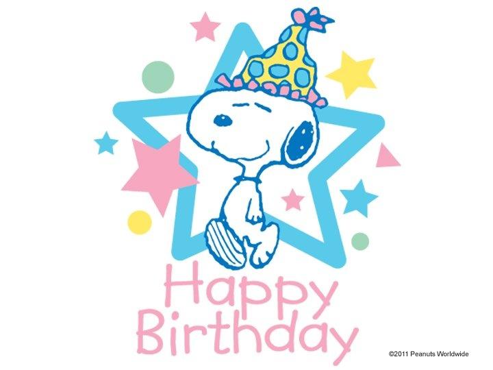 Snoopy Happy Birthday Clipart