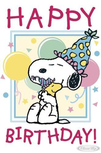 Snoopy Happy Birthday ….