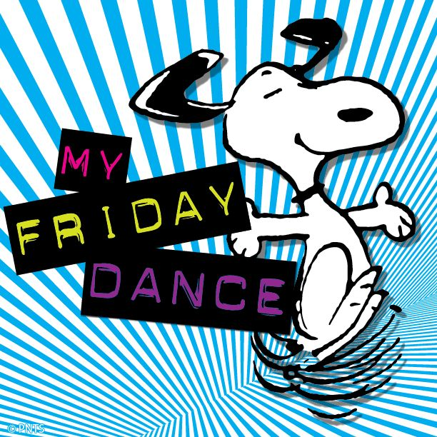 friday snoopy happy dance clipart yay tgif peanuts dancing cartoon morning its quotes funny fun weekend does clipground friends gang