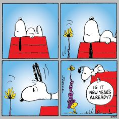Snoopy New Year Clipart.