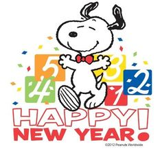 Snoopy Happy New Year Clipart.