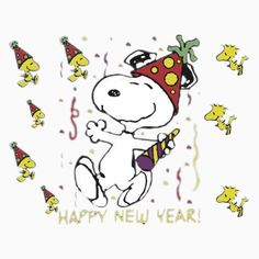 41 Best Snoopy New Year images.