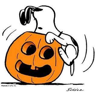 Snoopy Jack O\' Lantern Tile Coaster.