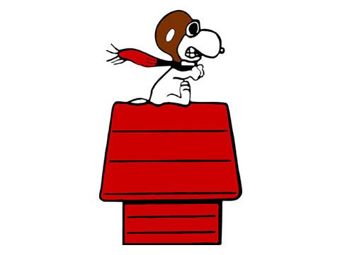 Snoopy vs the Red Baron.
