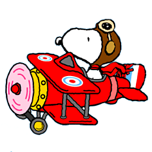 snoopy red baron clipart 49084.