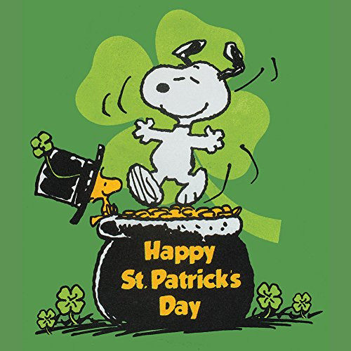 Snoopy, Woodstock in Top Hat Happy St Patrick\'s Day T.