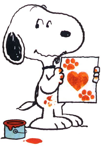 Snoopy Clip Art · Happy Valentines Day From Mom, Buddy And.