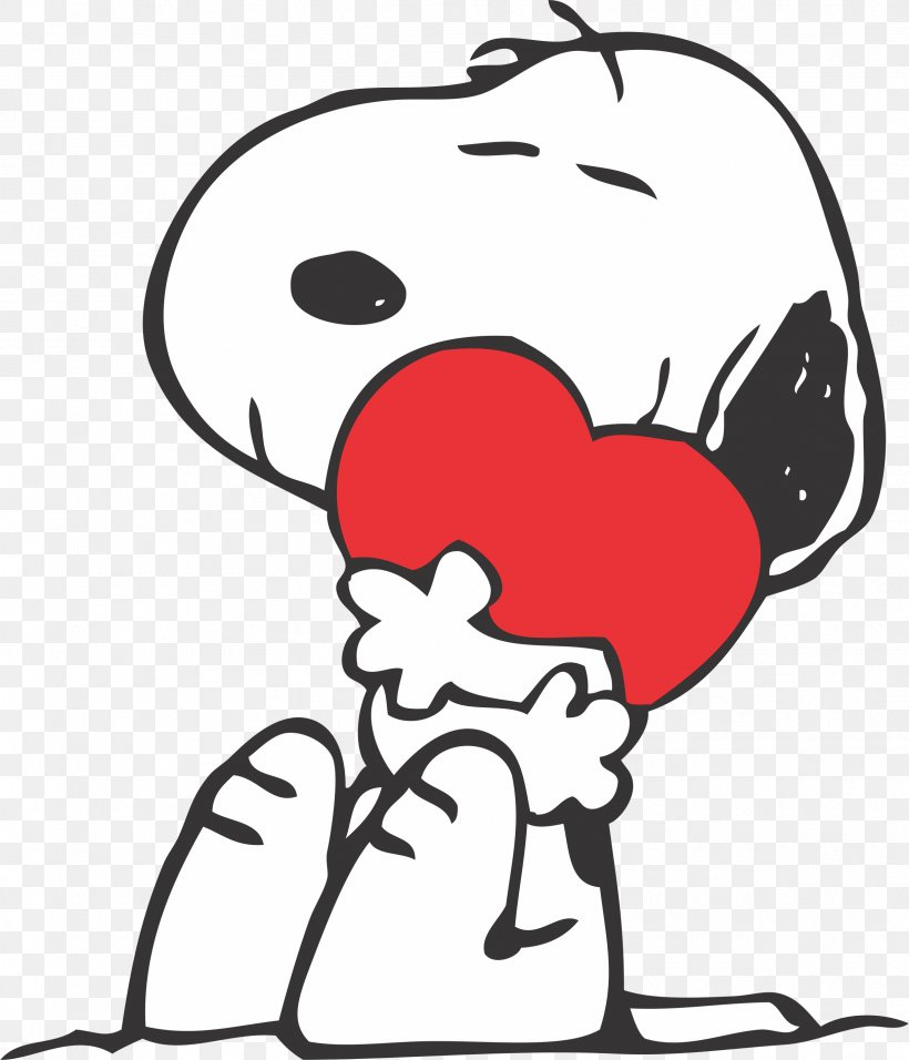 Snoopy Charlie Brown Woodstock Valentine\'s Day Peanuts, PNG.