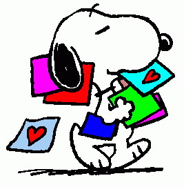 Snoopy Valentines Clipart.