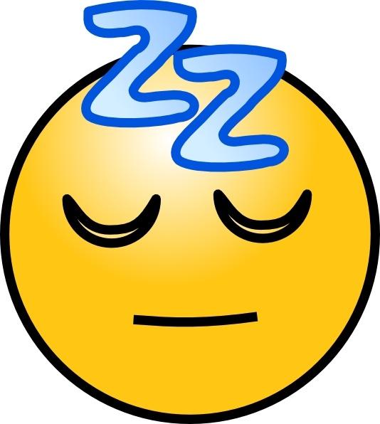 Snoring Sleeping Zz Smiley clip art Free vector in Open office.