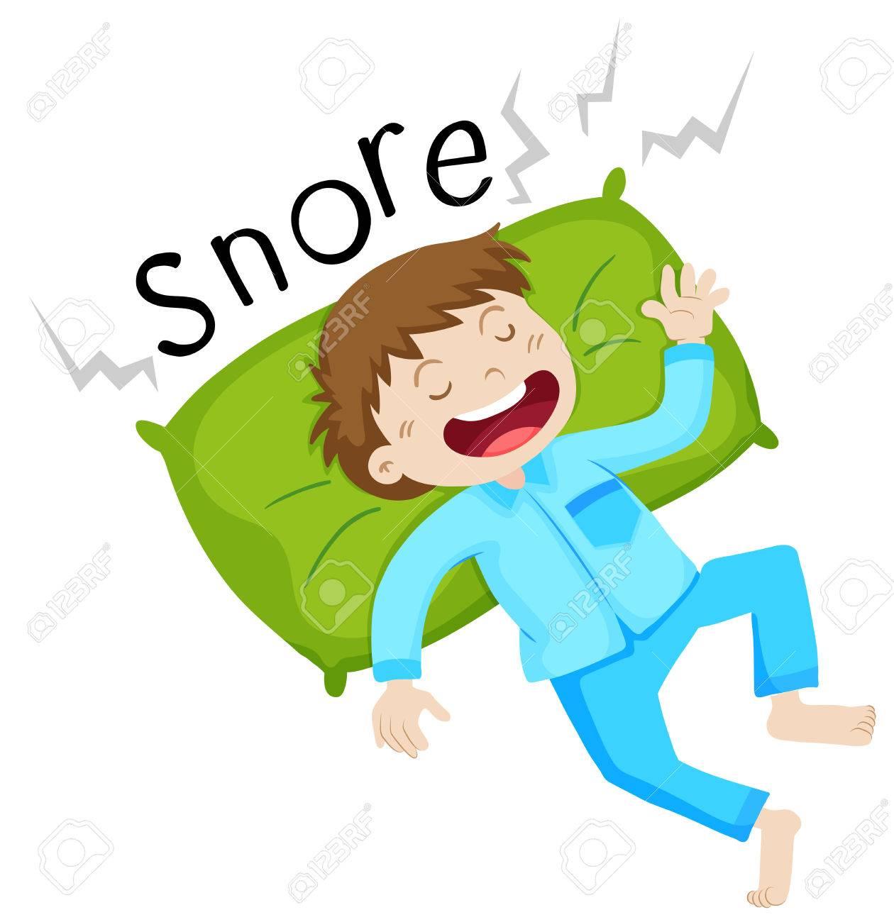 Dreams clipart snoring.