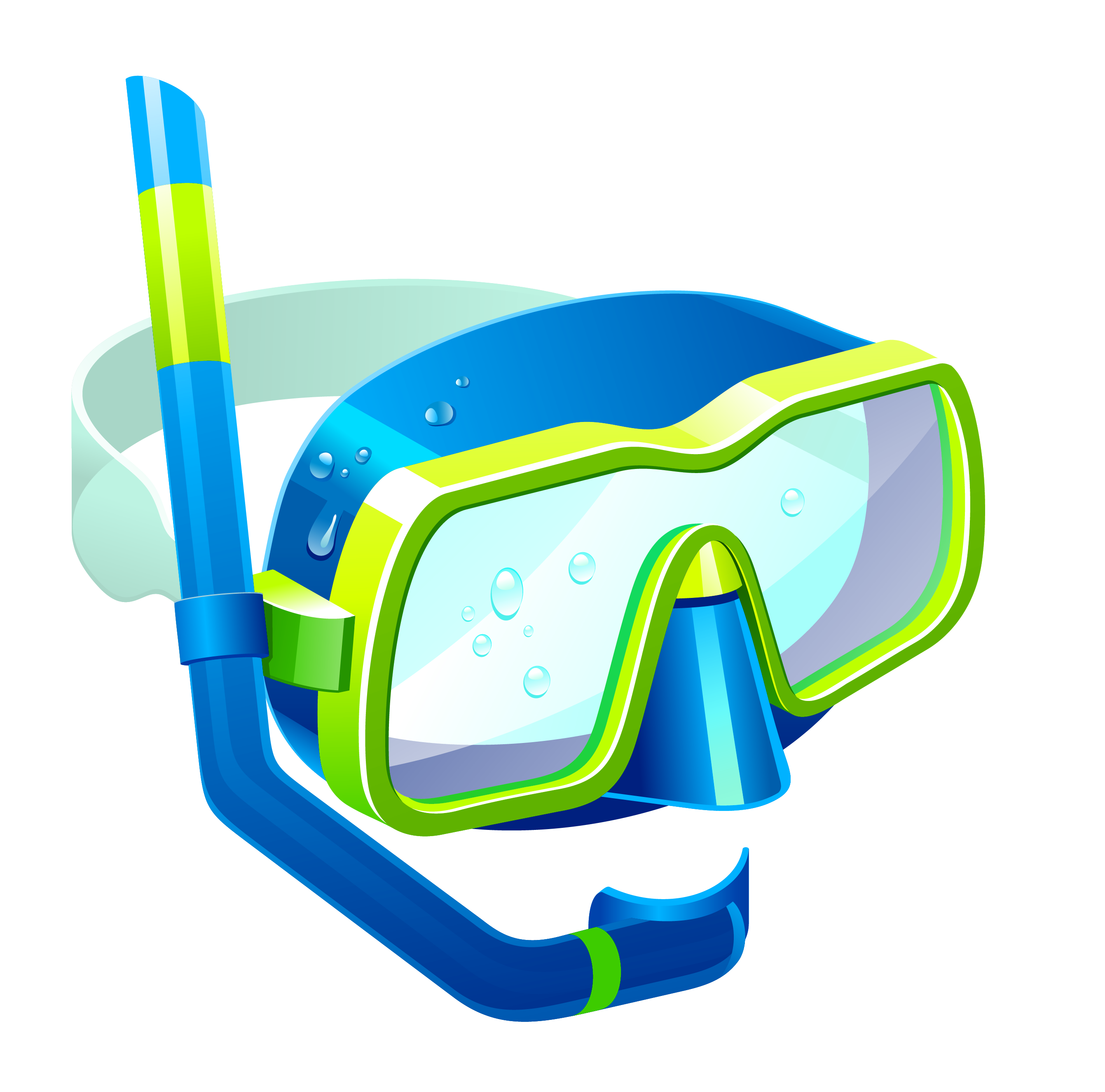Mask and snorkel clipart.