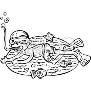 Snorkeling clipart black and white 8 » Clipart Portal.