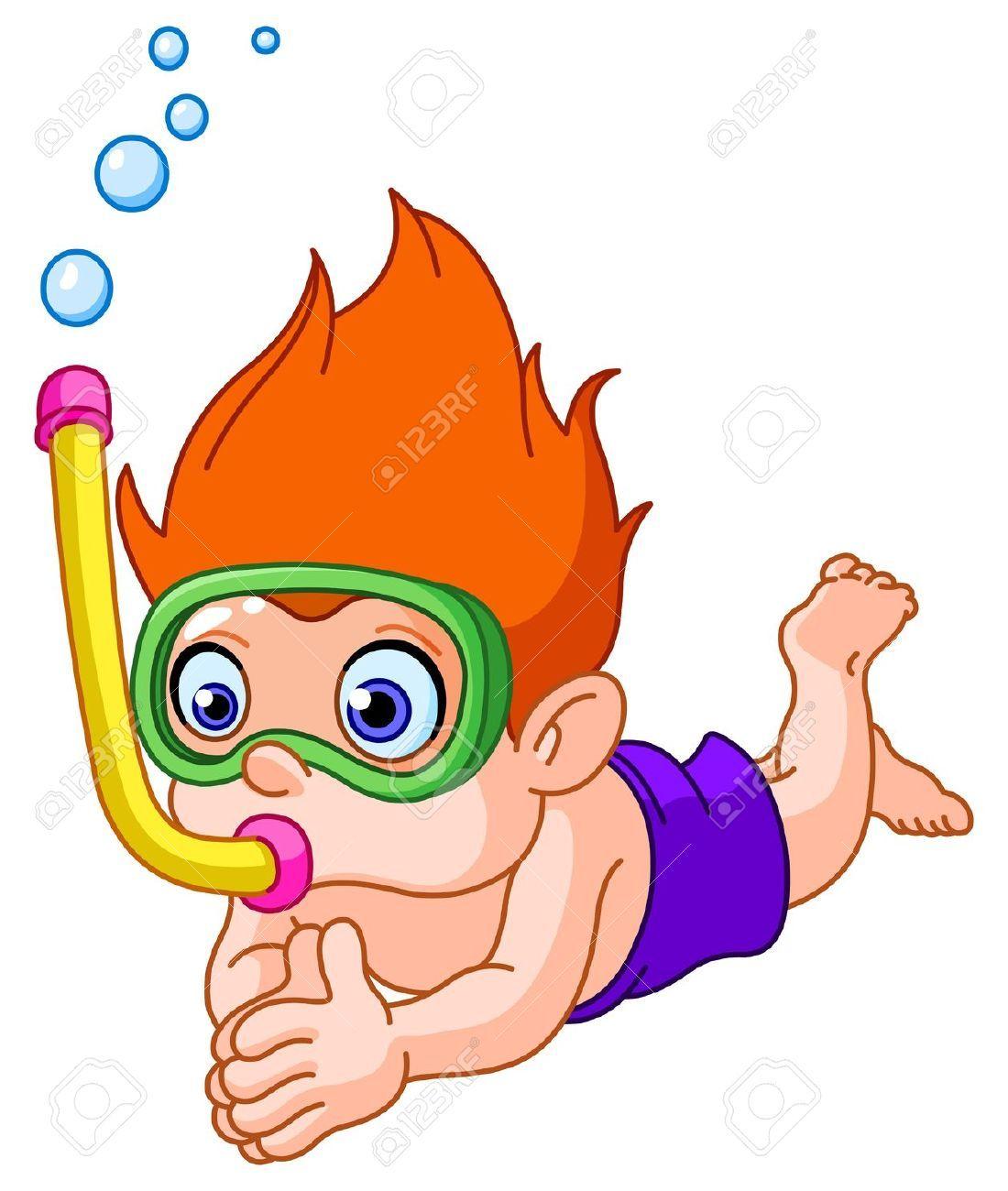 Snorkeling kid.