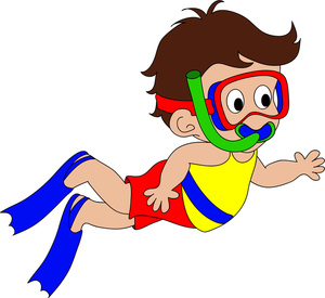 Snorkeling Clipart Image.
