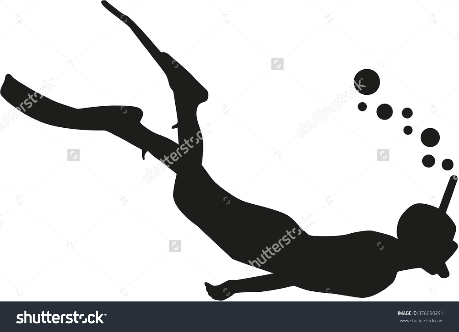 snorkling girl silhouette clipart 20 free Cliparts ...