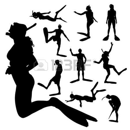476 Snorkel Girl Stock Vector Illustration And Royalty Free.