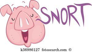 Snort Clip Art Illustrations. 84 snort clipart EPS vector drawings.