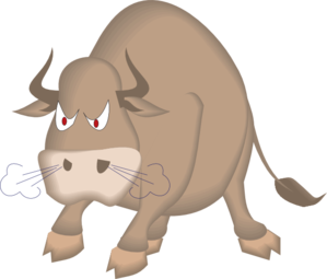 Angry Snorting Bull Clip Art at Clker.com.