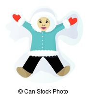 Snow angel Illustrations and Clipart. 2,250 Snow angel royalty.