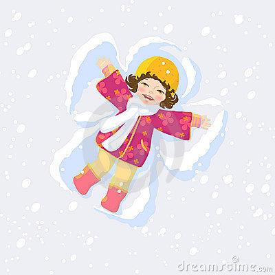 Snow Angel Clipart.