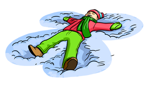 Snow Angel Clipart.