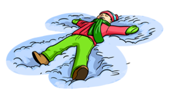 Making Snow Angels Clipart.
