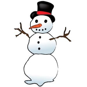 Clipart snowman arms.
