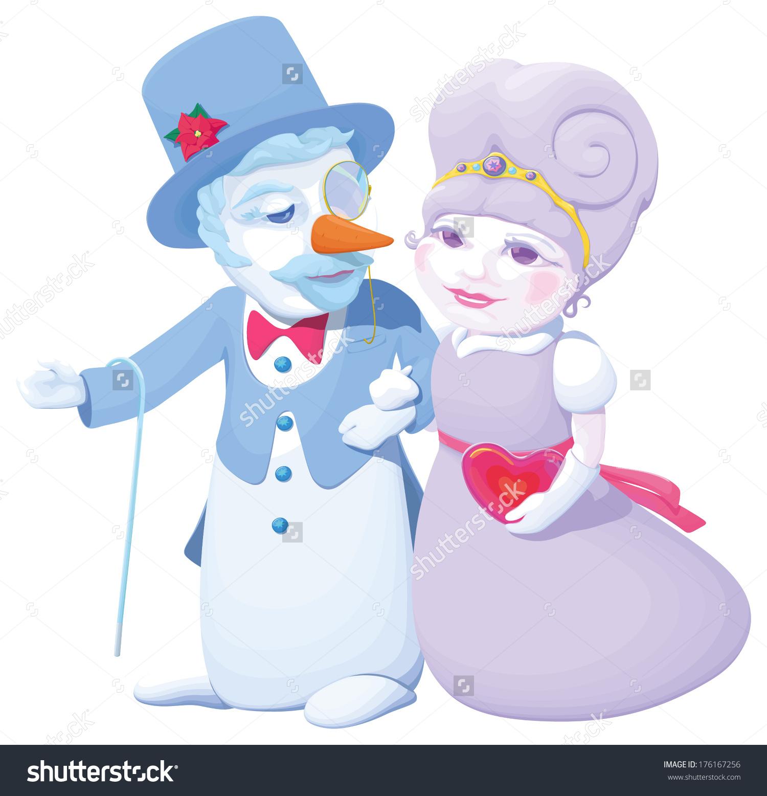 Snowman Snow Maiden Arm Arm He Stock Vector 176167256.
