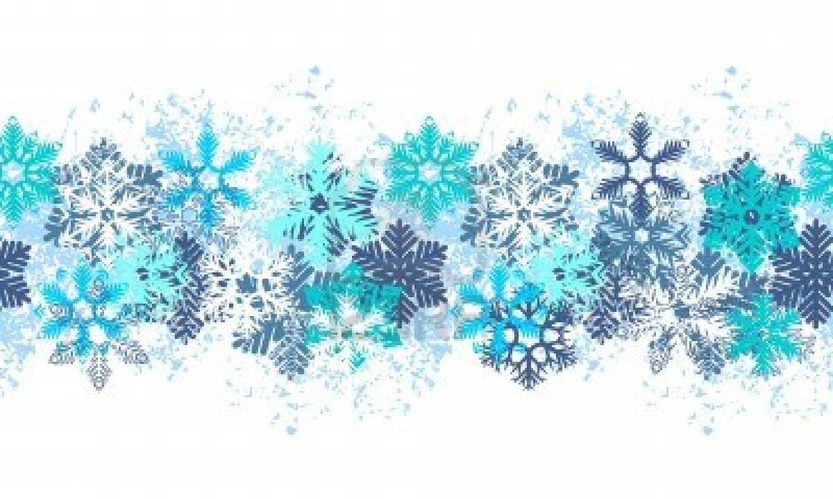 Snowflake Banner Clipart.
