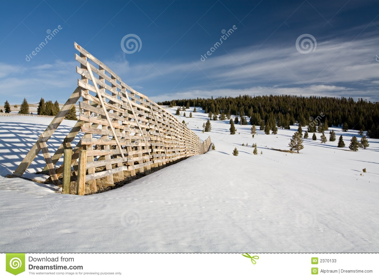 Snow Fence Stock Photos.