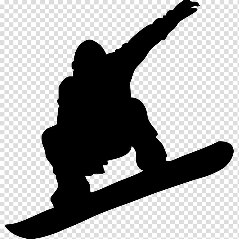 Snowboarding Skiing Silhouette , snowboard transparent.