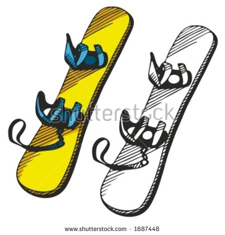 Snowboard Vector Illustration Stock Vector 1687448.