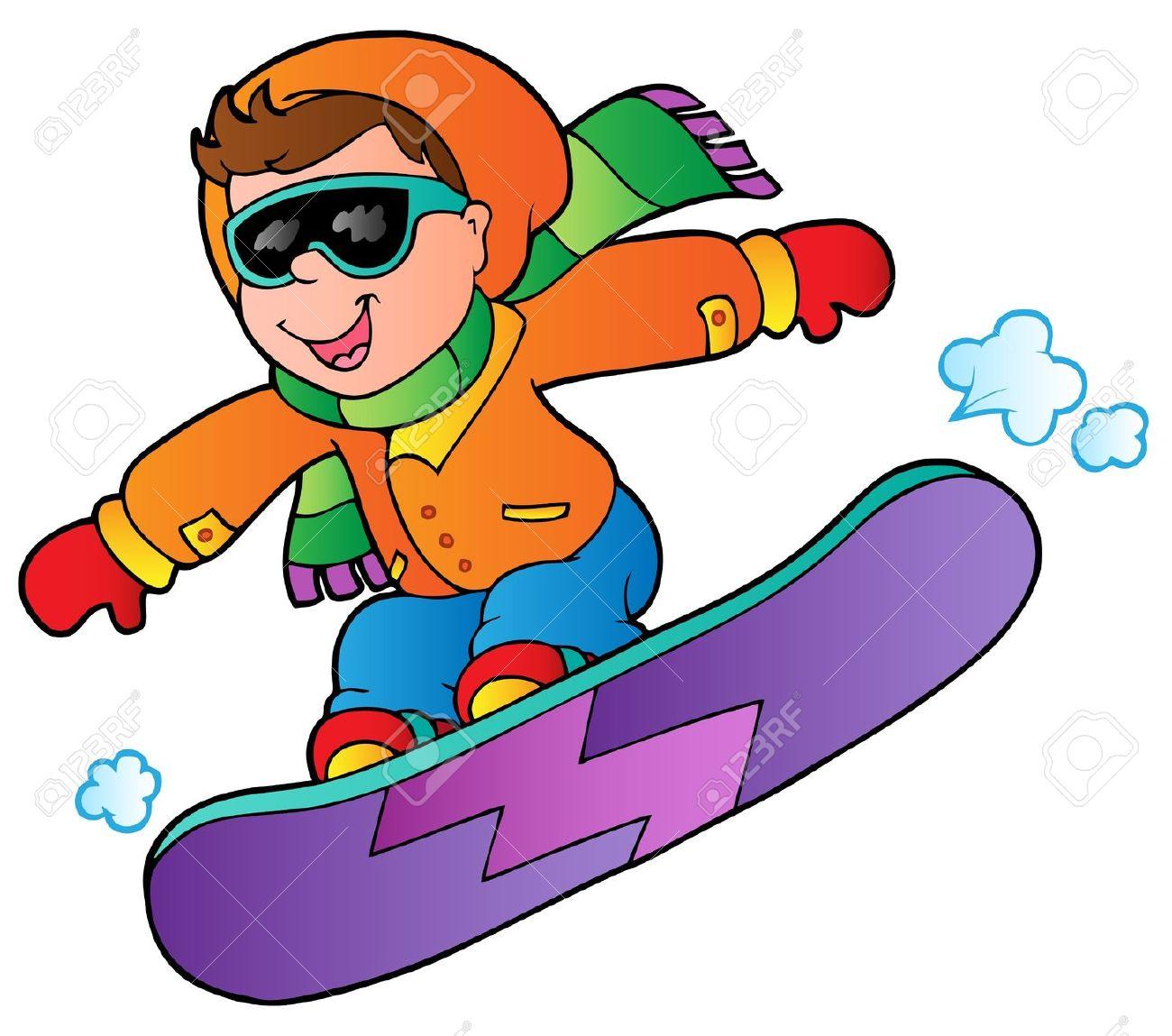 120 Snowboard Clipart.