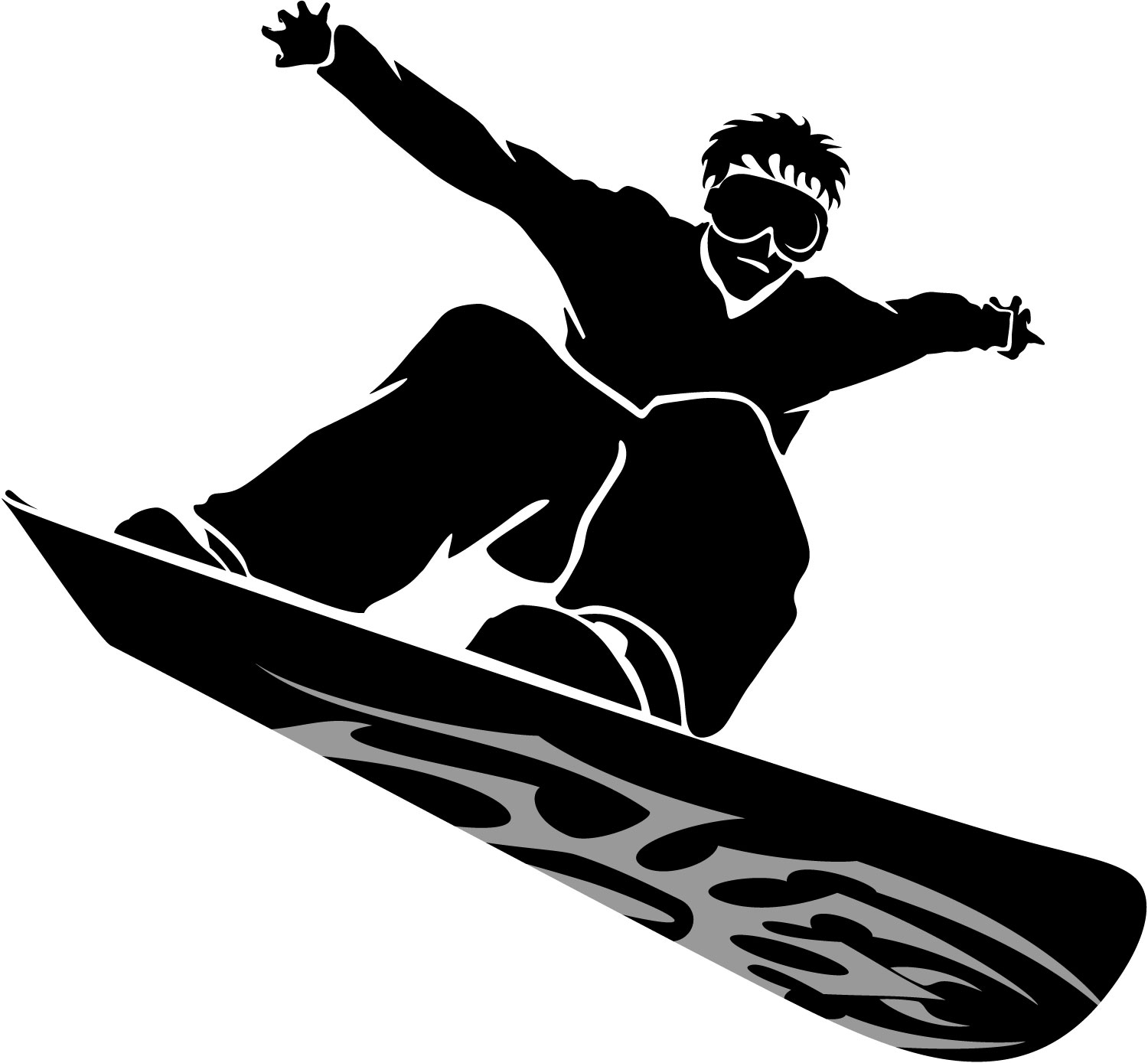 Ski And Snowboard Clipart.