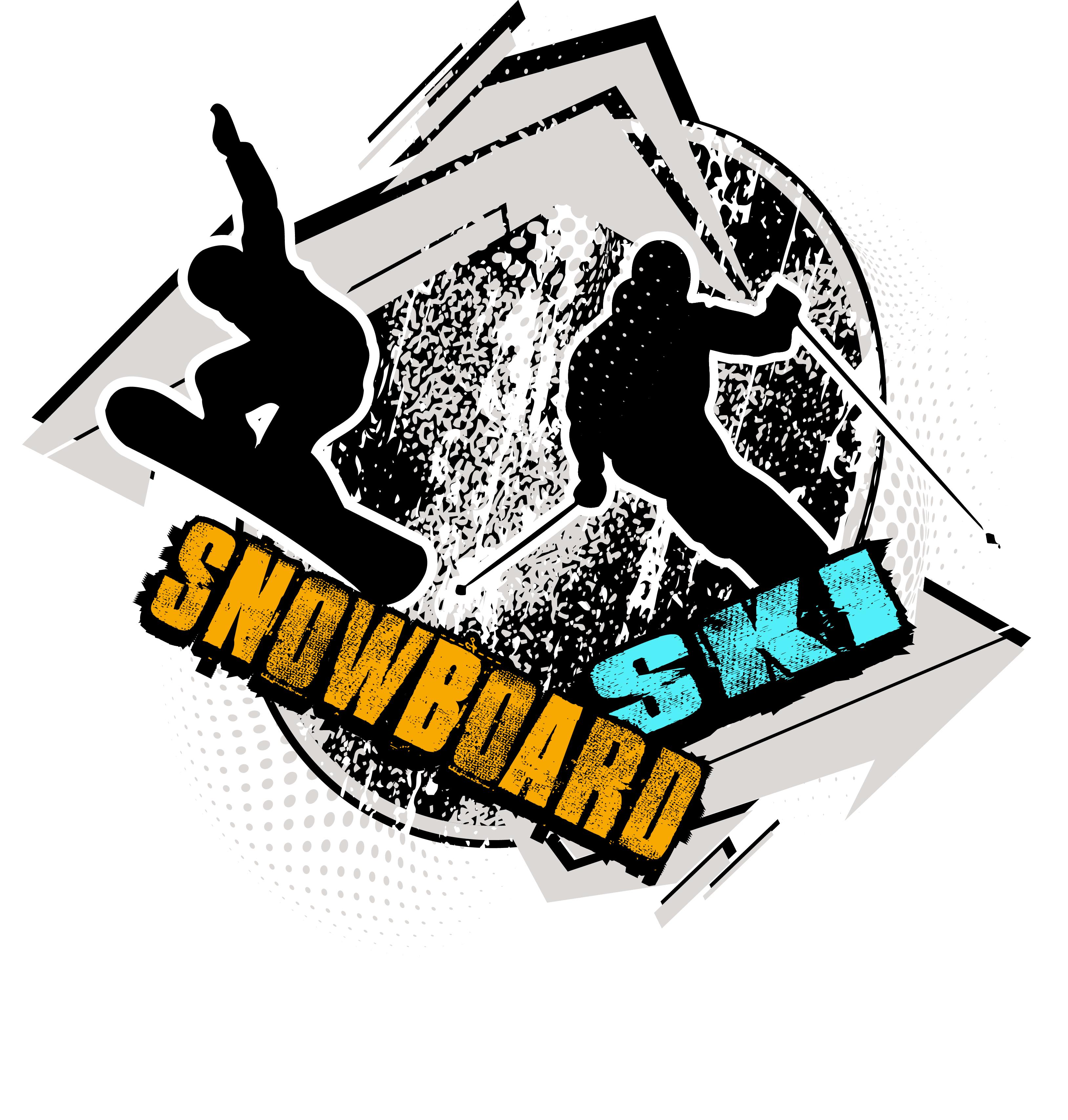SNOWBOARD AND SKI T.