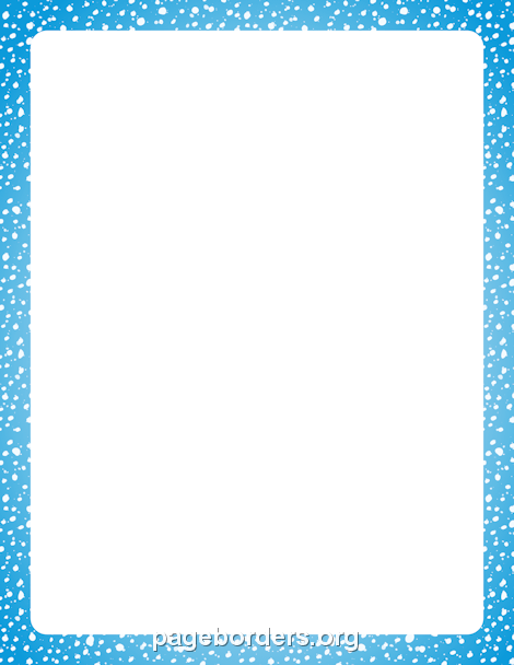 Snow Border: Clip Art, Page Border, and Vector Graphics.