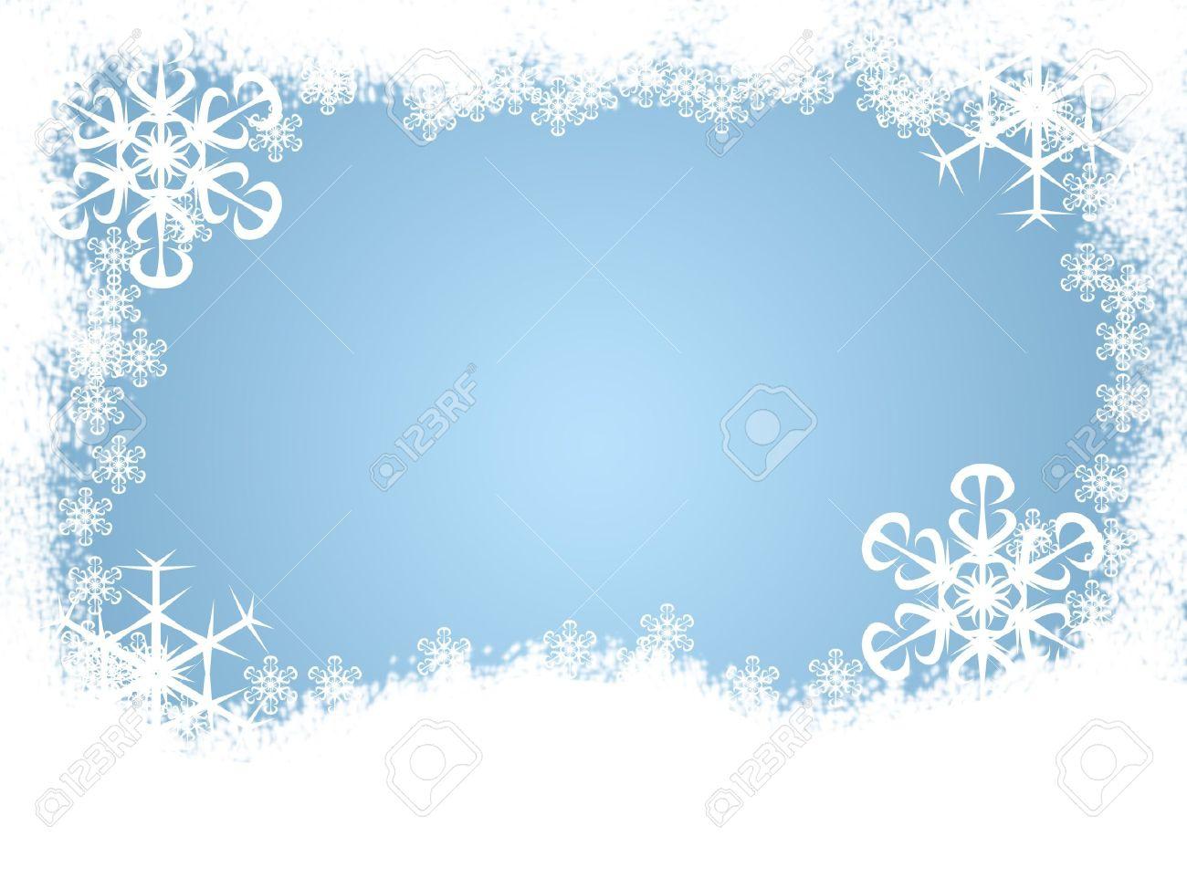 Snow Border Clipart#2205050.