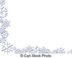 Free snowflake clipart borders.