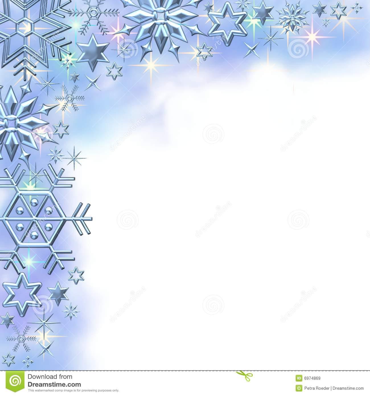 Snowflake Border Clipart.