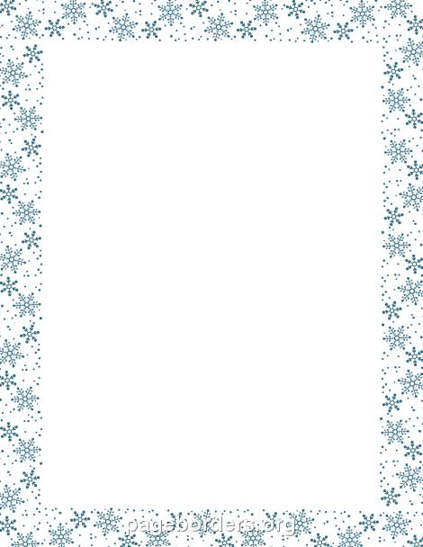 Google Borders Snowflake Clipart.