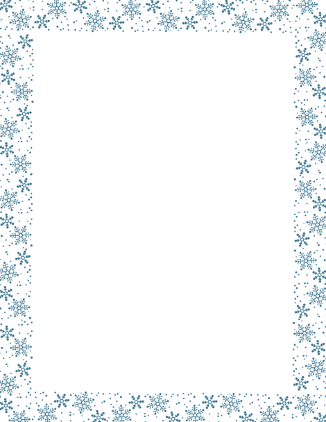 Snow Clipart Border.