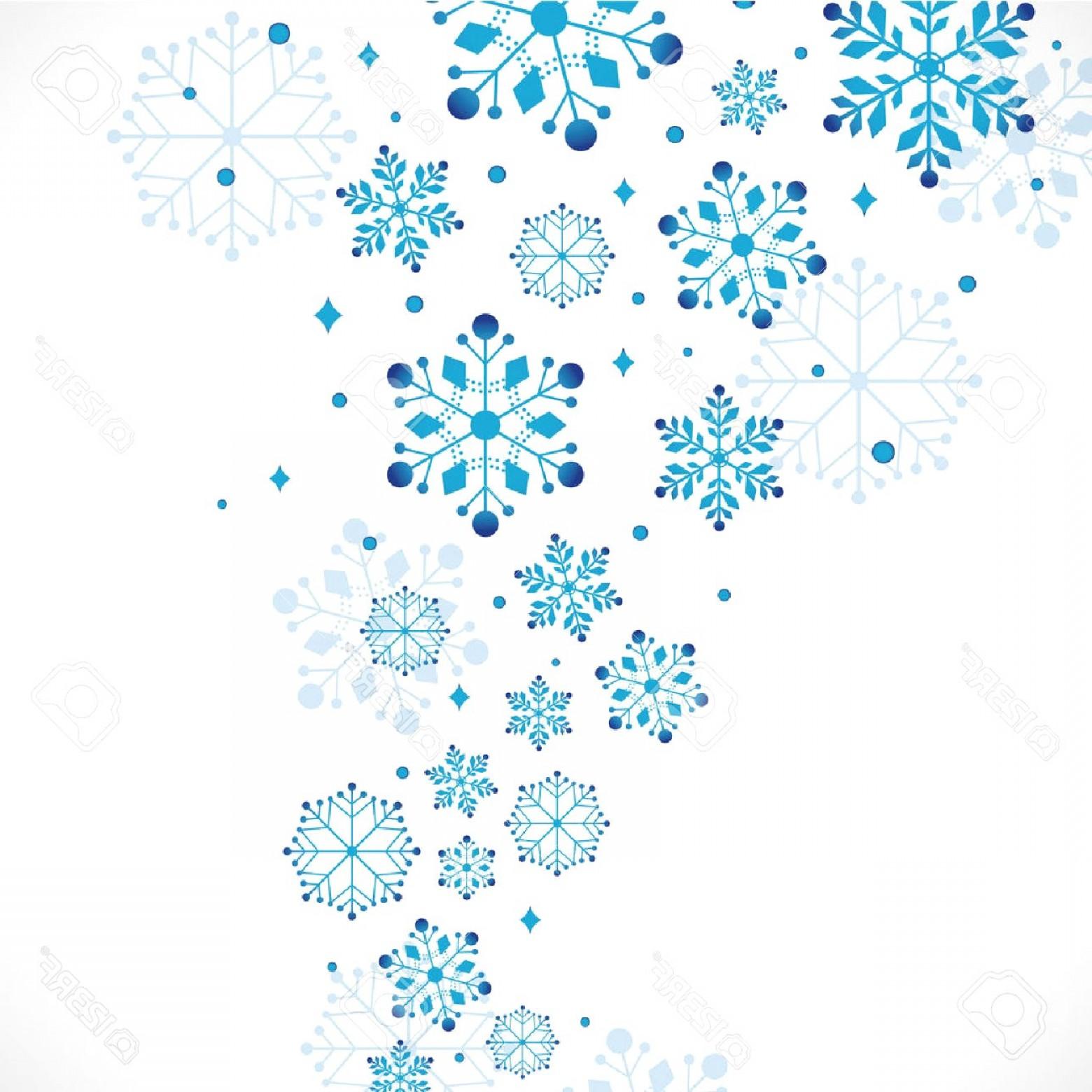 Snow Clipart Background Vector Illustration Stock Snowflake.