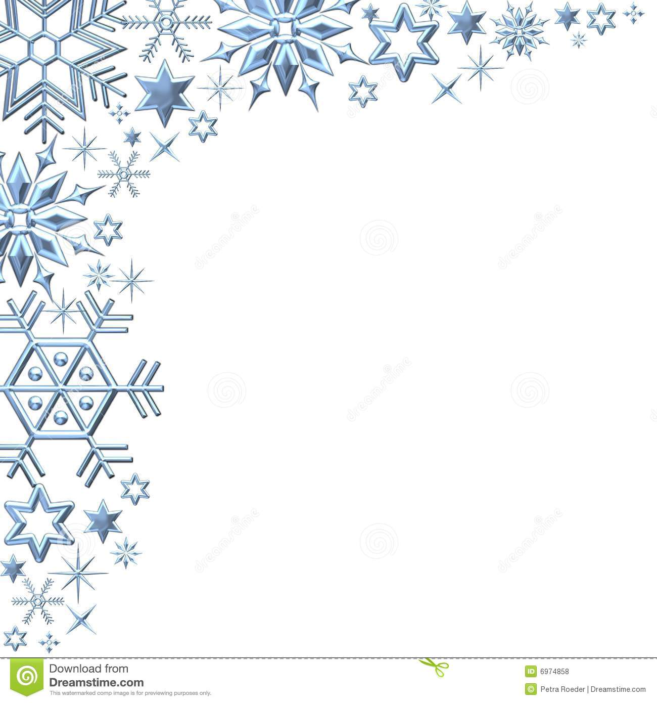 89+ Snowflake Border Clipart.