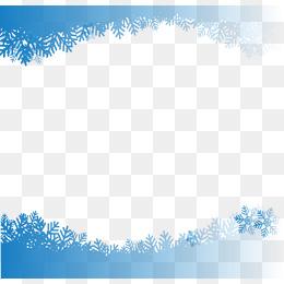 Snowflake Border Png, Vector, PSD, And C #514128.