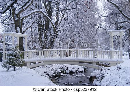 Stock Photo of the snow bridge.